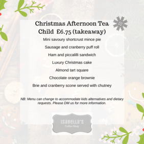 Childrens Christmas Afternoon Tea